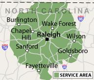 Our North Carolina Service Area